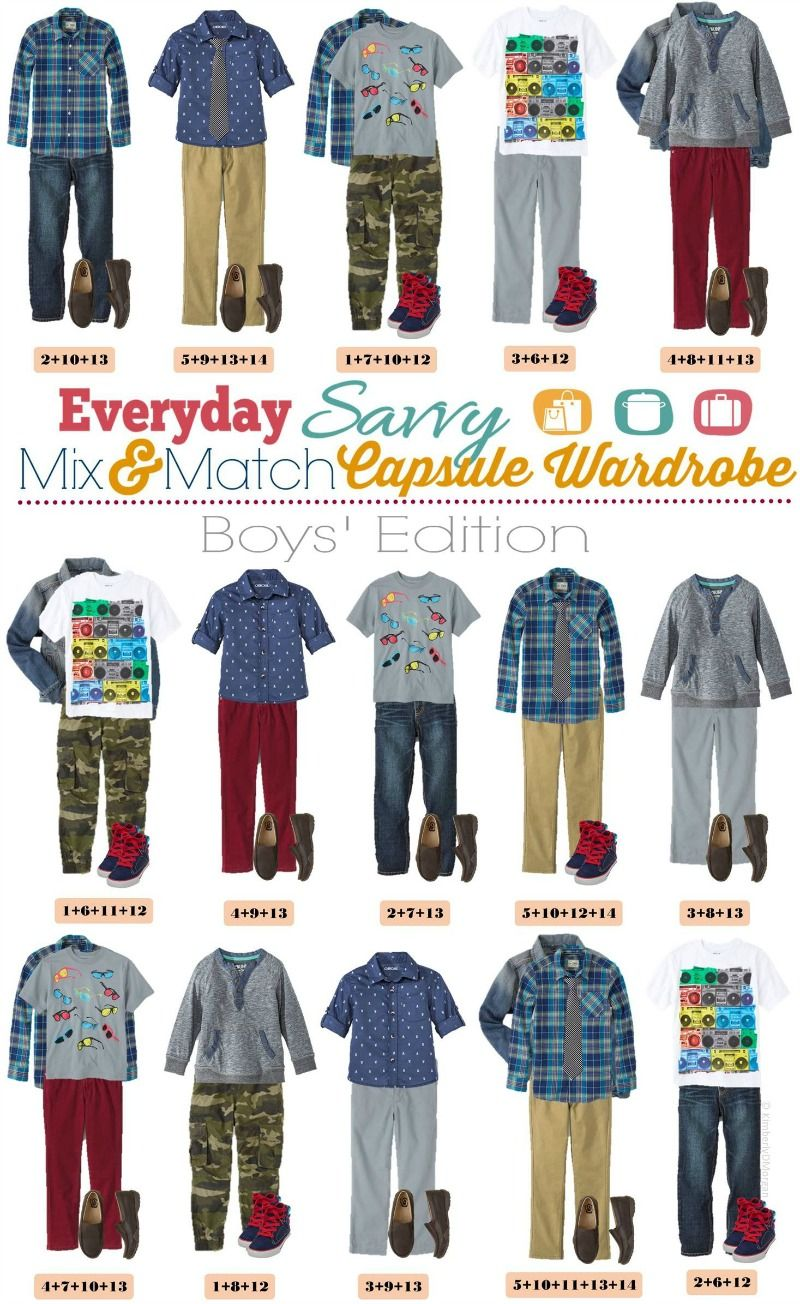 Spring Mix And Match Outfits For Boys Quot Capsule Wardrobe