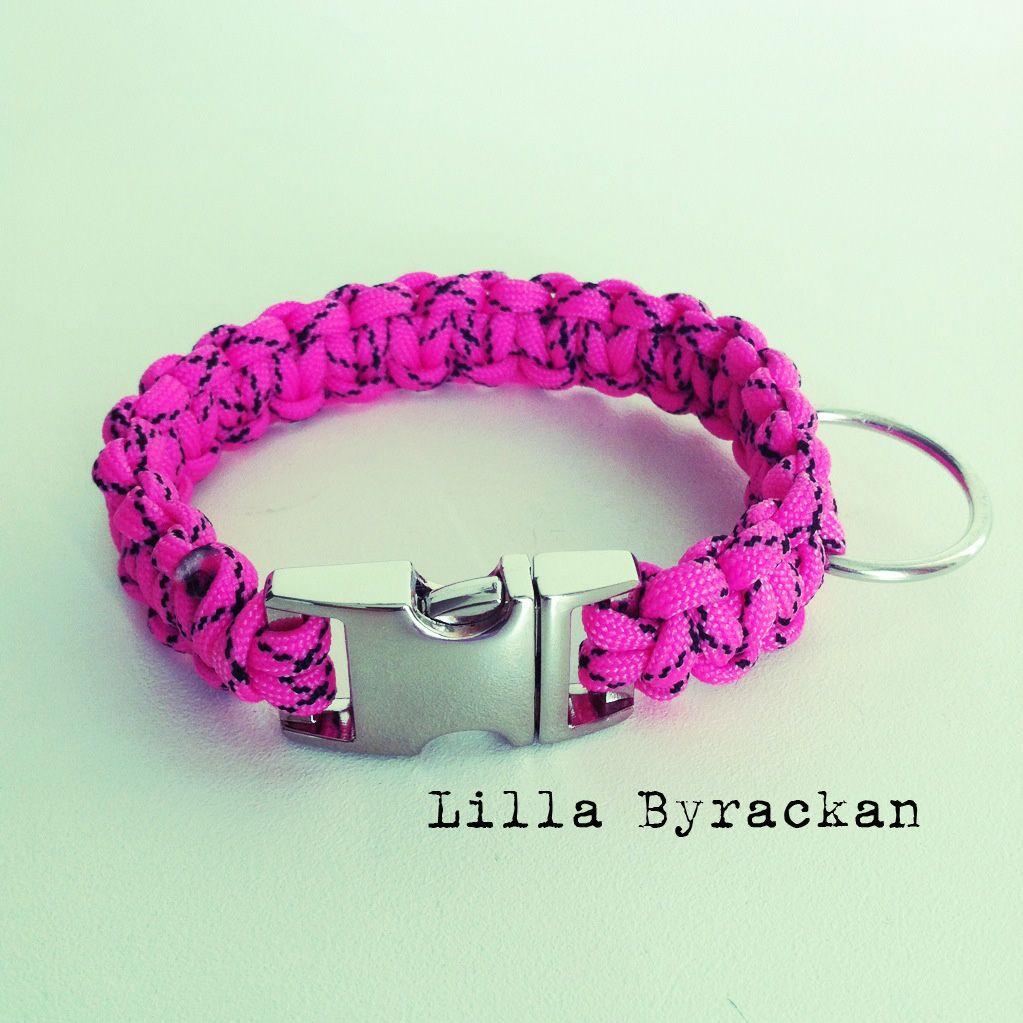 Dog collar made by paracord. Handmade. www.facebook.com/lillabyrackan
