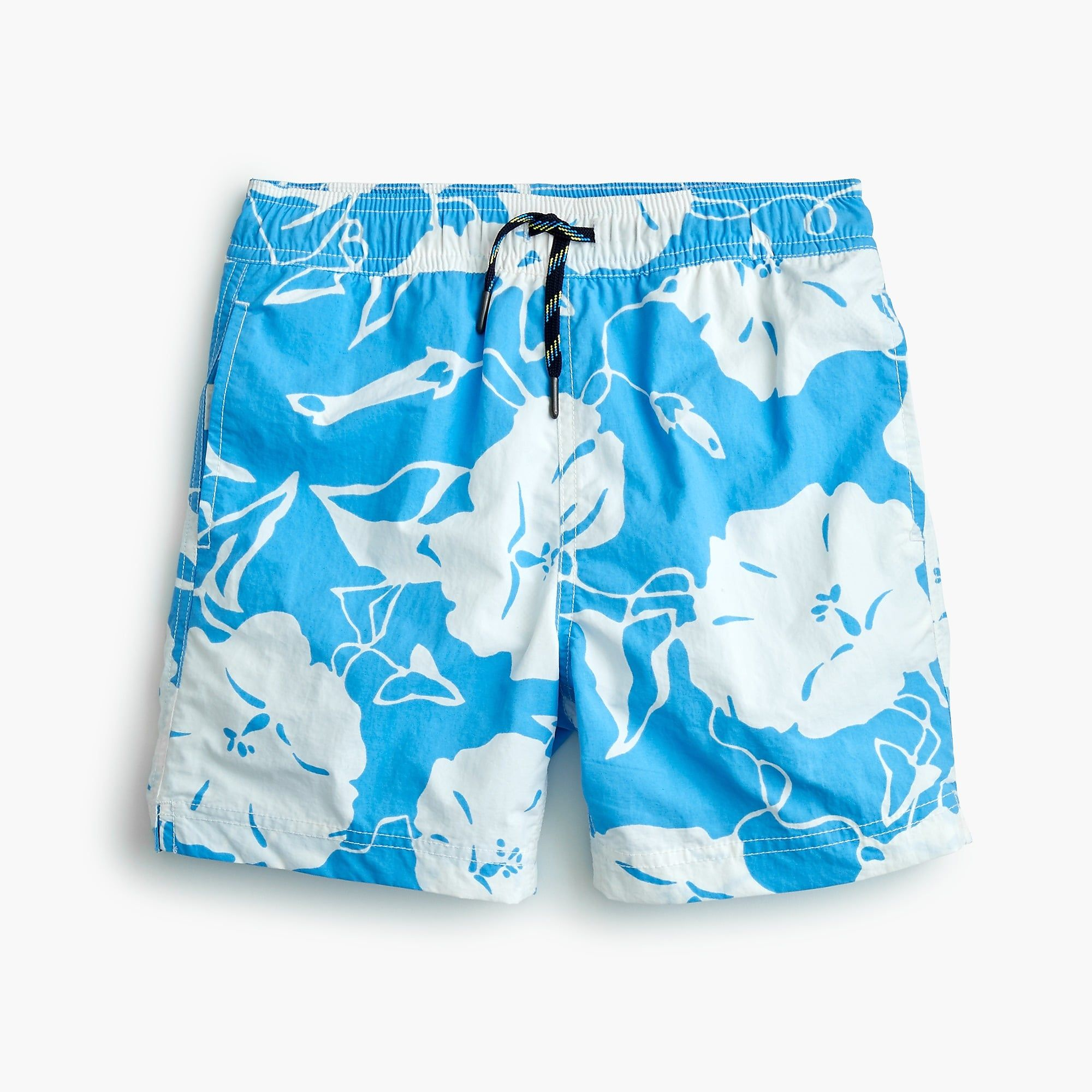 4a0652582d529 Shop the Boys' swim trunk in poppy print at J.Crew and see the entire  selection of Boys' Swimwear. Find Boys' clothing & accessories at J.Crew.
