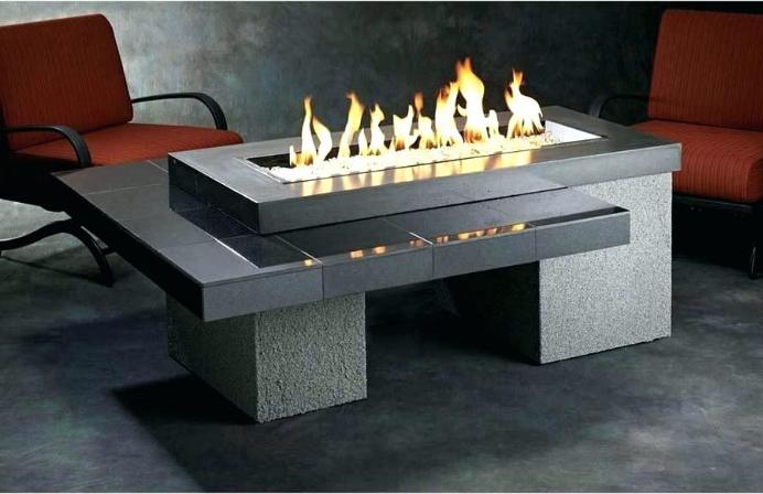 Black Granite Tile With Gray Stucco Base Modern Multi Level Design Exterior Grade Frame Granite Su Modern Fire Pit Outdoor Fire Pit Propane Fire Pit Table