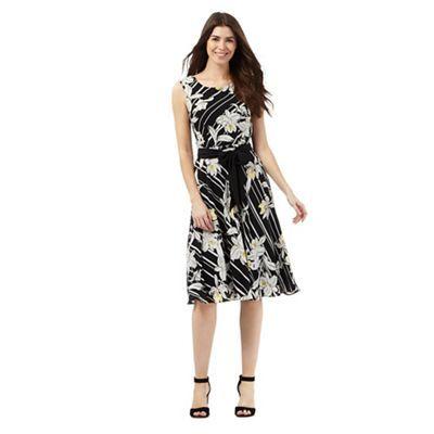 The Collection Black striped floral print dress | Debenhams