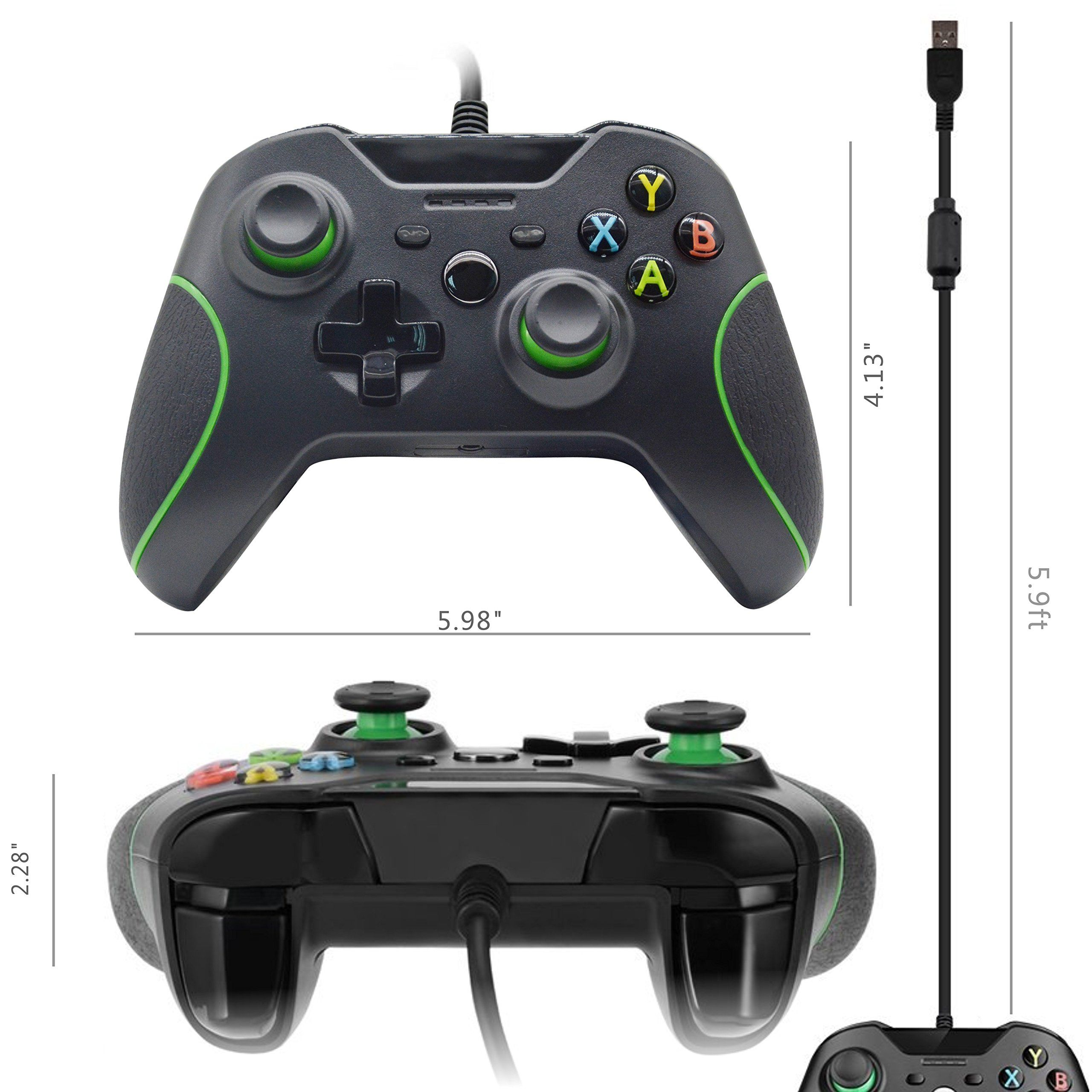 Xbox One Wired Controller TONSUM Perfect Replacement Gamepad for ...