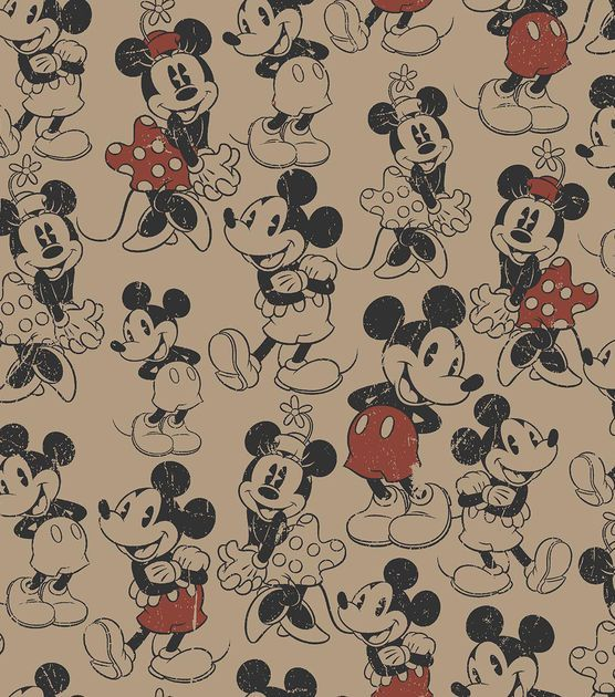 character burlapmickey amp minnie amp character fabric at