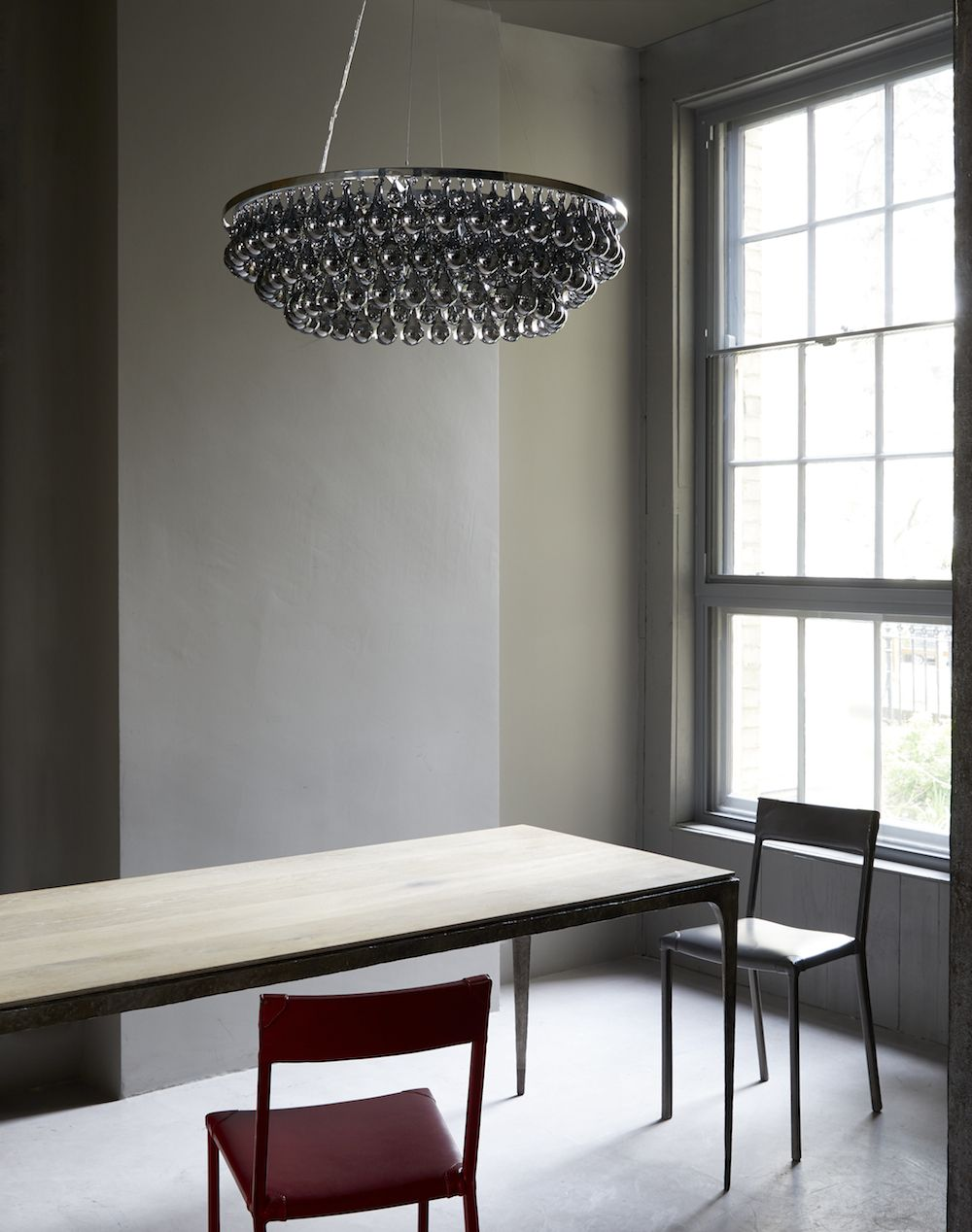 ARCTIC PEAR CHANDELIER OVAL 55