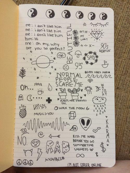 Drawing With Notebook Lines : Tumblr notebook drawings google search quotes