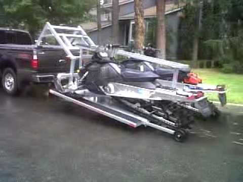 Hydraulic Sled Deck Snowmobile Trailers Sled Trailer Deck