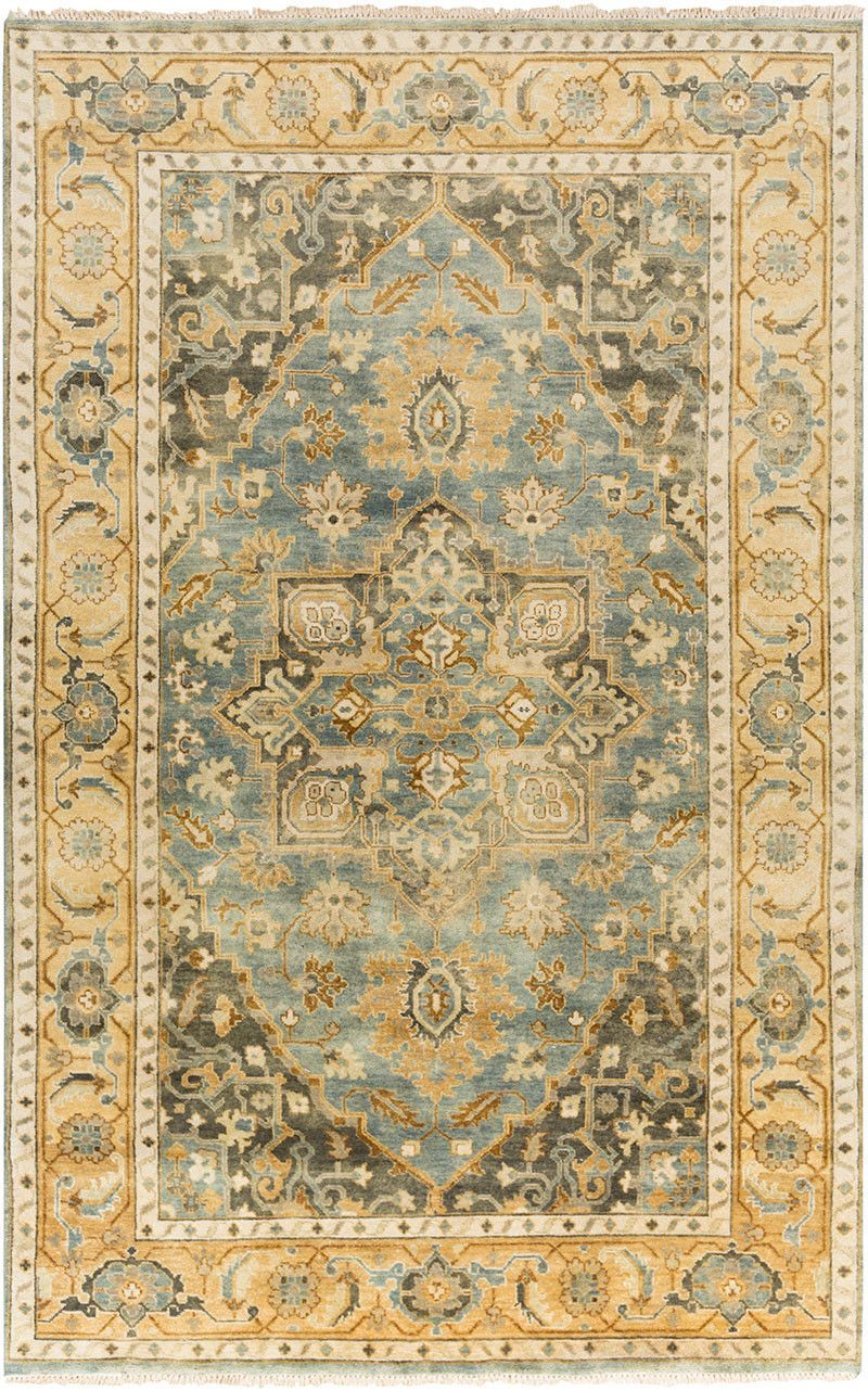 Antique Teal Gold Area Rug Rugs Teal Rug Traditional