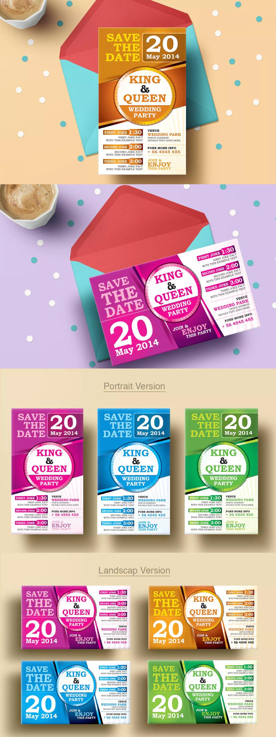 Wedding partyceremony invitation cards template eps wedding wedding partyceremony invitation cards template eps stopboris Choice Image