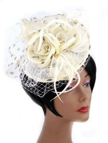 NYfashion101(TM) Cocktail Fashion Sinamay Fascinator Hat Flower Design & Net S102651-Beige/Black NYfashion101,http://www.amazon.com/dp/B00IRKLYR8/ref=cm_sw_r_pi_dp_zj9Ctb1Q13Z22BX8