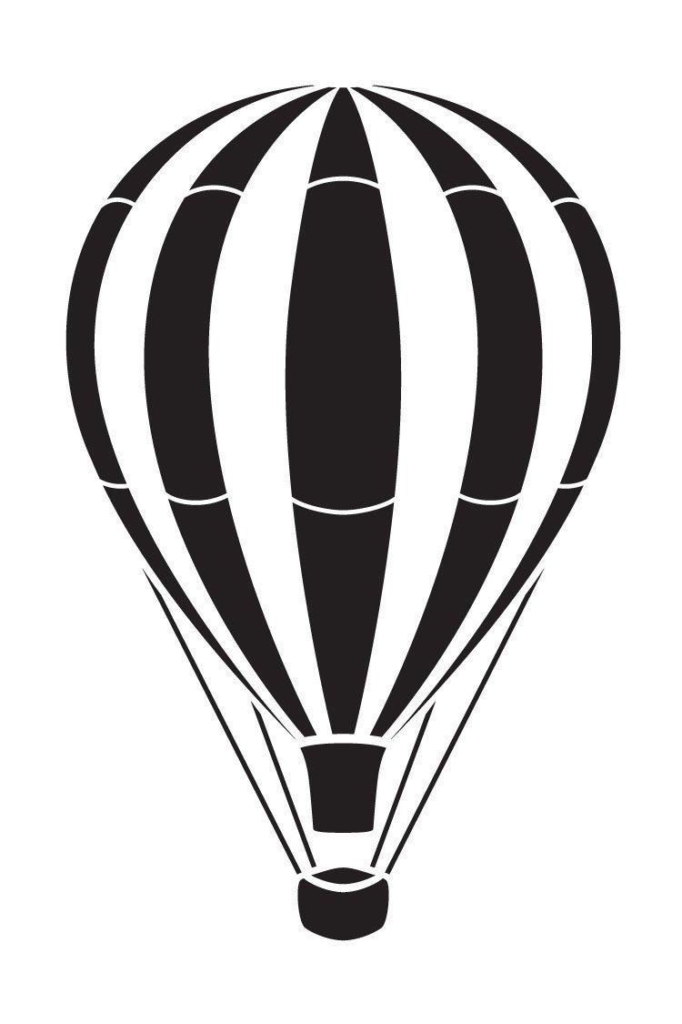 Vintage Hot Air Balloon Art Stencil 13 1 2 Hot Air Balloons Art Hot Air Balloon Tattoo Air Balloon