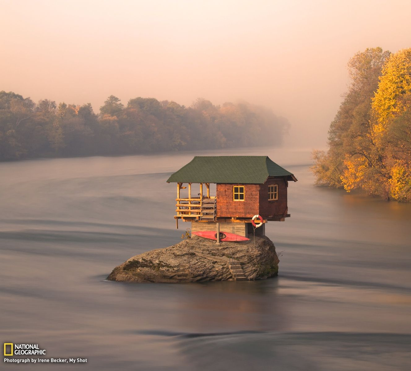 Tiny River House in Serbia