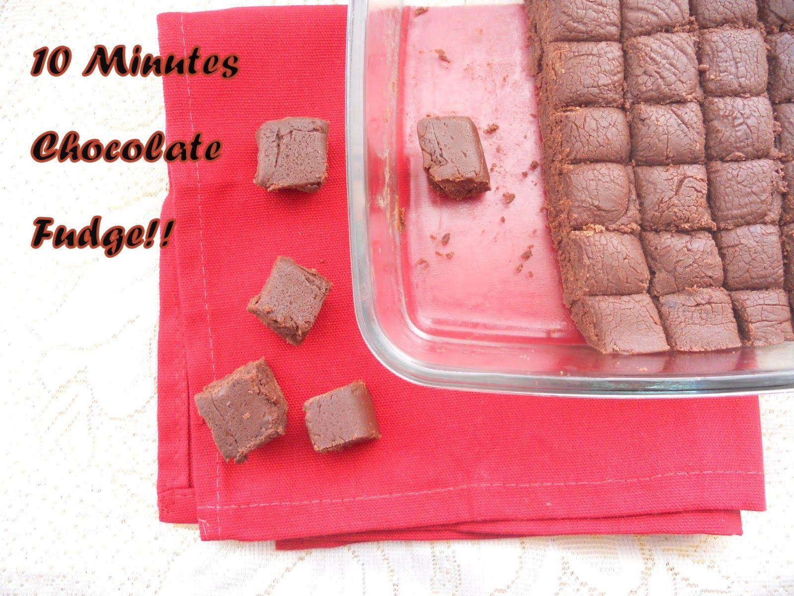 10 Minutes Chocolate Fudge Step By Step Chocolate Fudge Fudge Candy Desserts