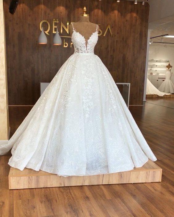 Wedding Dresses Ball Gown Aline on We Heart It