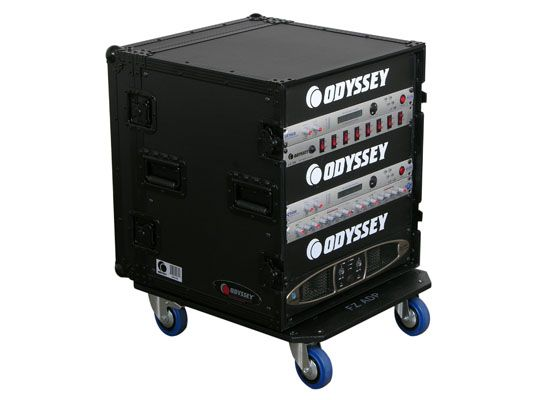 Odyssey Ata Flight Cases Black 12 Space Dj Amp Rack Odyssey Case Dj