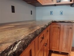 2 Split Granite Edge Mold Stained Concrete Countertops