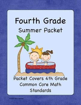 common core summer packet for fourth graders