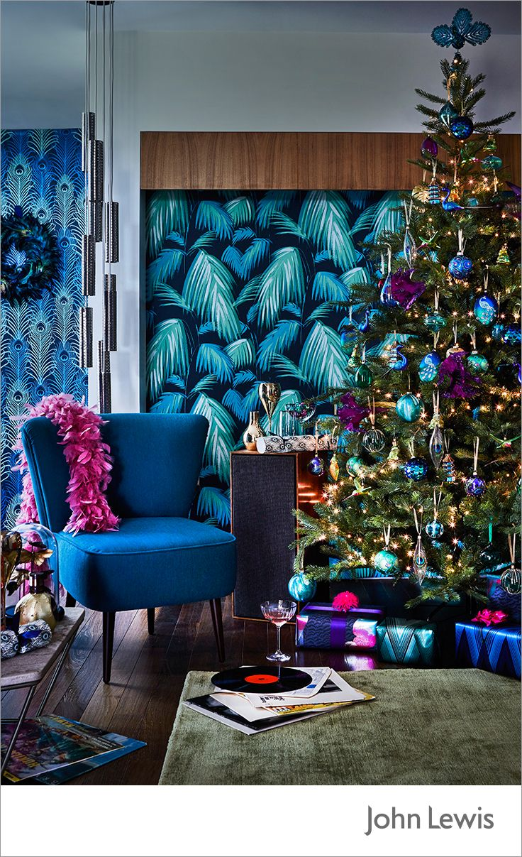 refresh your christmas decorating theme with the john lewis shangri la collection inspired by rich vegetation and iridescent feathers of wild birds - Christmas Decorating Themes