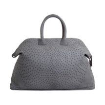 If my ship came in I'd be shipping out with this weekender: Zagliani Ostrich Extra Large Tomodachi Duffel