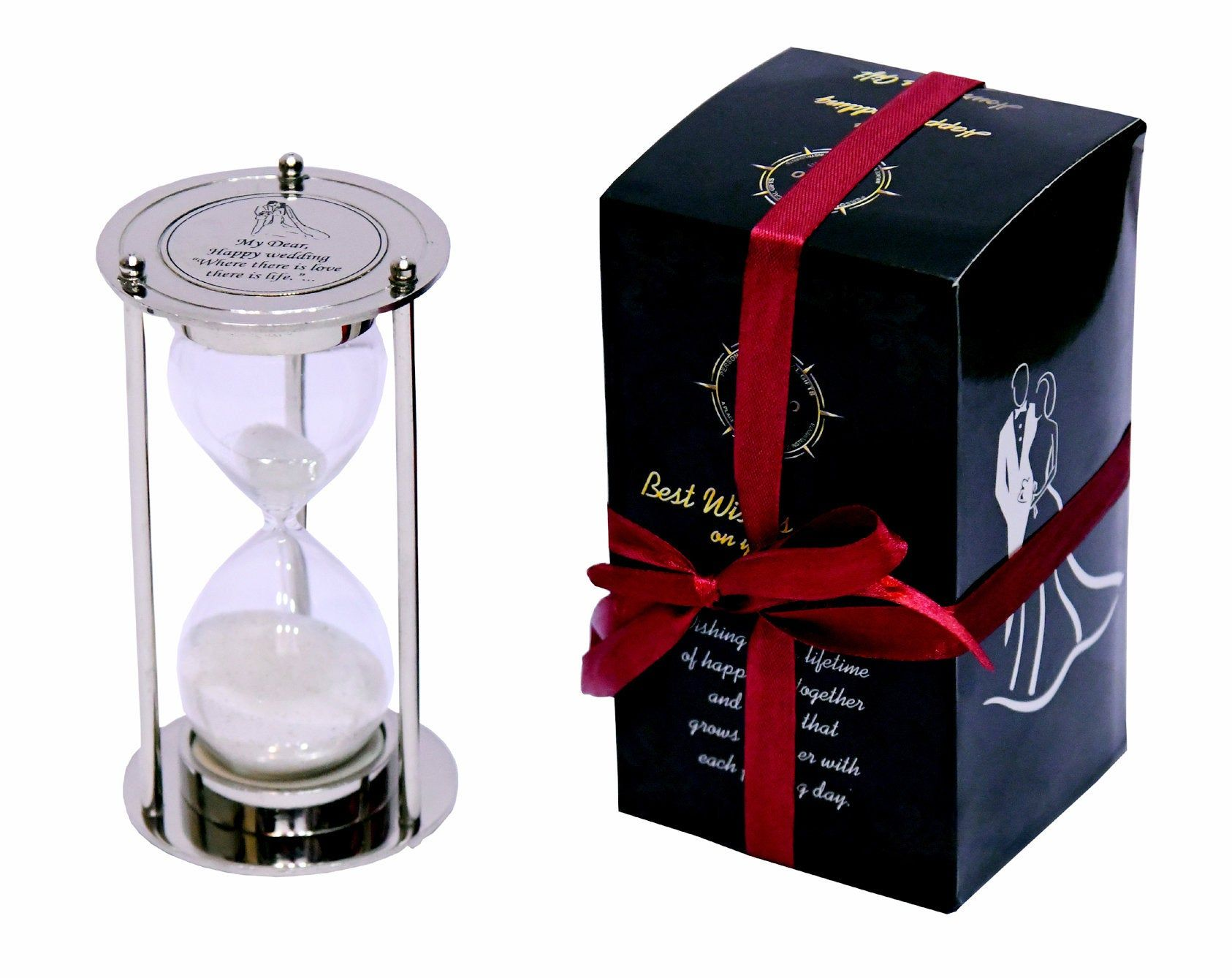 Classic Wedding Gift Fillable Sand Timer Hourglass With Unique Personalized Wedding Quote Within Engraved Wedding Gifts Engraved Wedding Classic Wedding Gifts