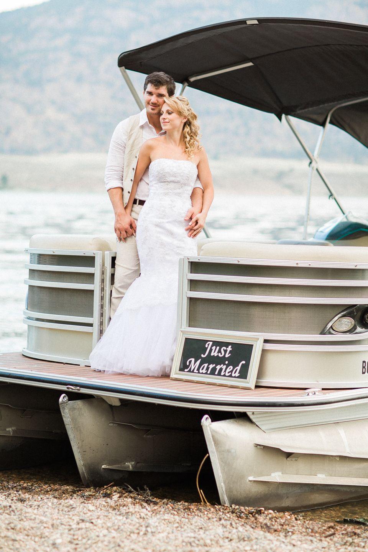 Pontoon Boat Wedding Pontoonboatwedding Justmarriedboat Yacht Wedding Boat Wedding Yacht Wedding Dress