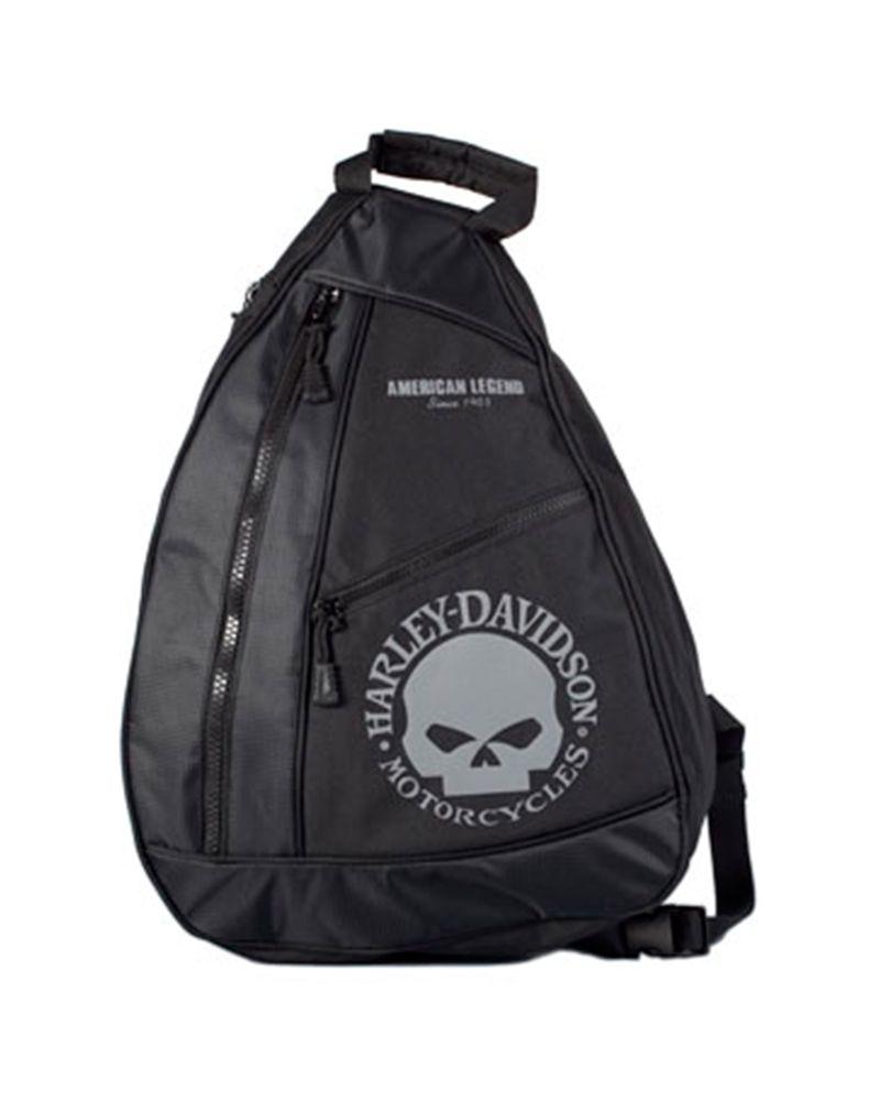harley davidson willie g skull sling backpack harley. Black Bedroom Furniture Sets. Home Design Ideas