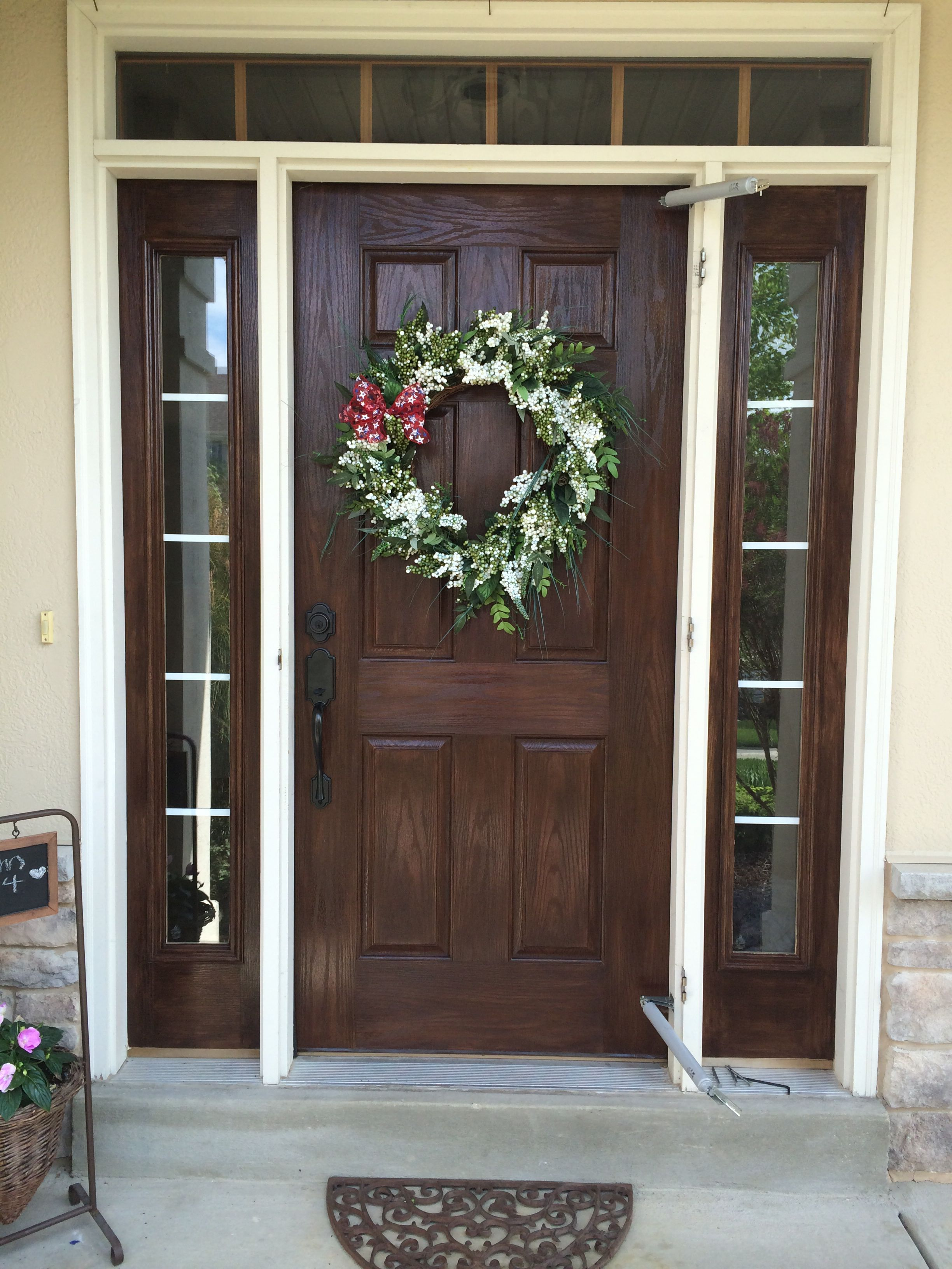 Gel stained fiberglass door i used old masters gel stain - Chestnut brown exterior gloss paint ...