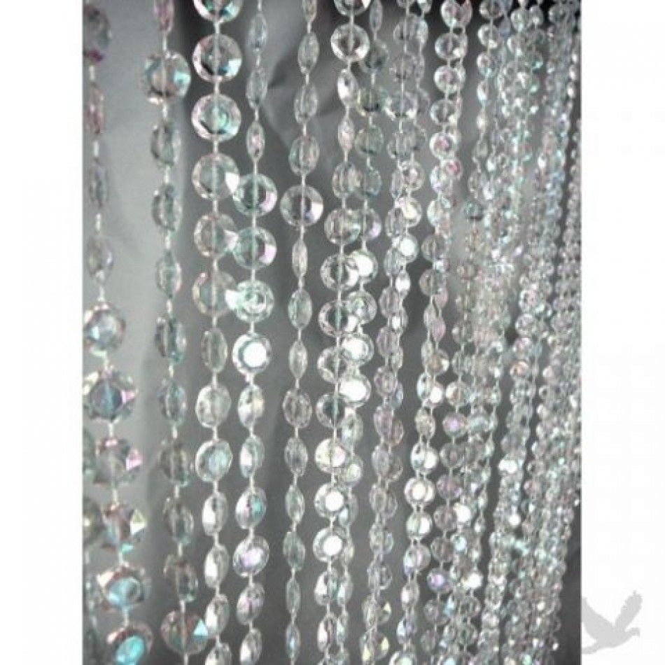 3 x 12 foot beaded curtain panels iridescent