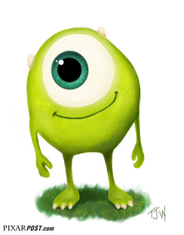 Pixar Post - For The Latest Pixar News: Young Mike Wazowski Fan Art