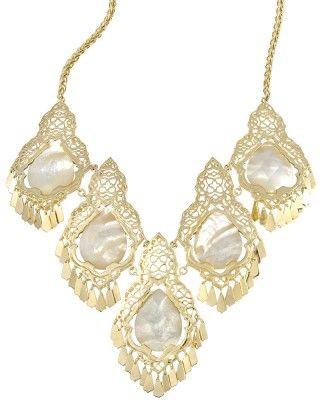 Valora Statement Necklace in Ivory