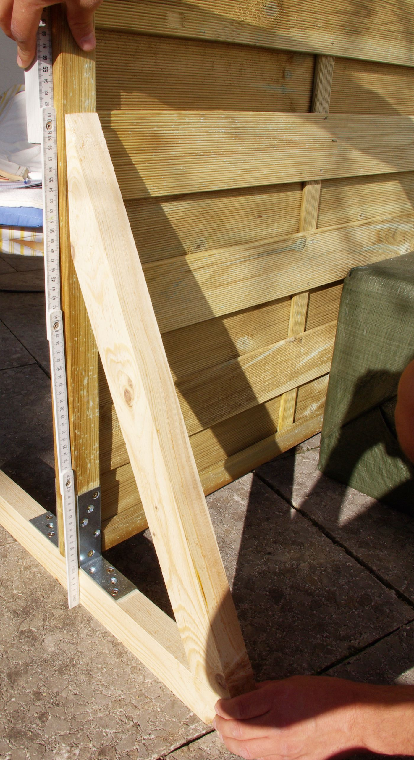 Sichtschutz Paravent Garten Balkon selber bauen Anleitung DIY Höhe