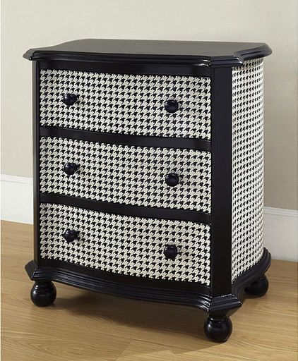 Houndstooth; eclectic dressers chests and bedroom armoires by