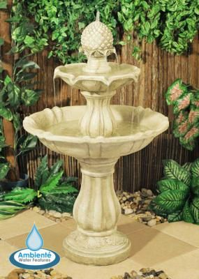 Pineapple 3 Tier Fountain Water Feature Elizabethan 2 Tier Water Fountain  This Attractive Tiered Fountain Would Makes A Great Focal Point For Any  Setting.