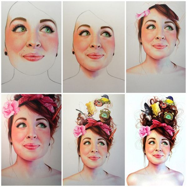 colored pencil portraits by morgan davidson representational