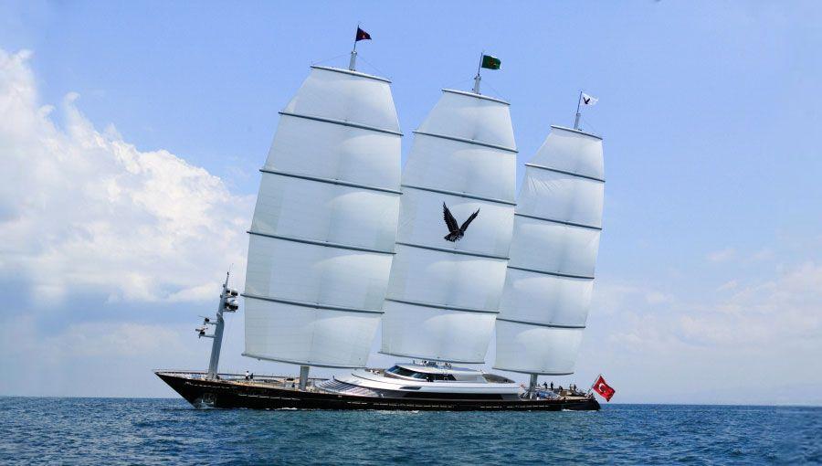 Maltese Falcon Yacht Yacht Maltese Falcon Seen Here Arriving In Monaco For The Yacht Show Yacht Yacht Design Sailboat Yacht