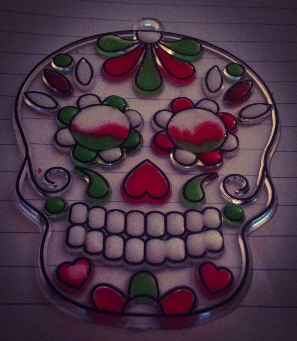 Skull sun catcher