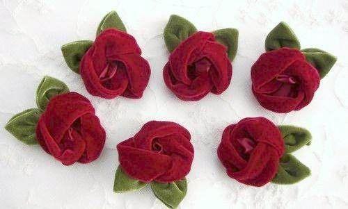 How To Make Velvet Roses Fabric Roses Flower Applique Velvet