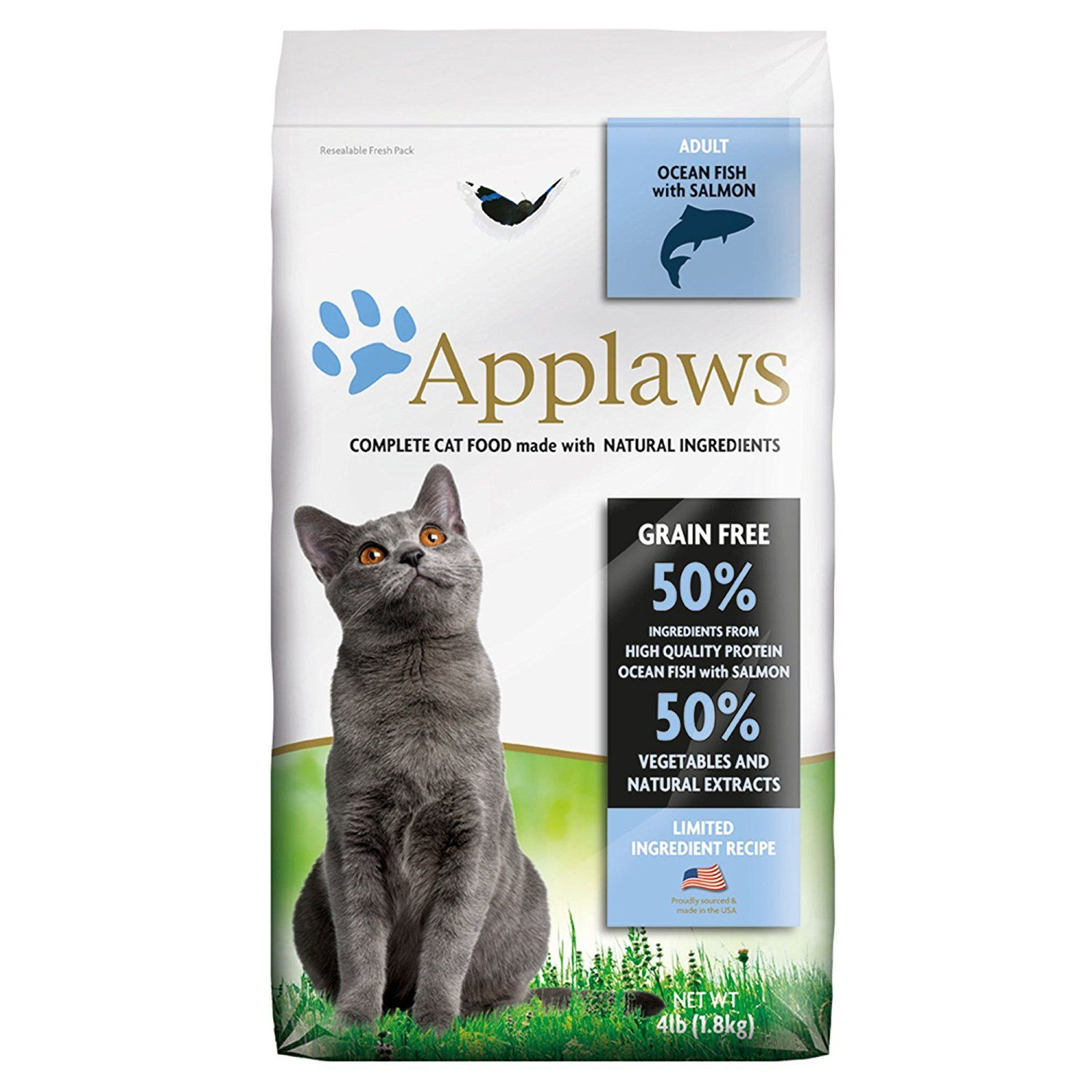 Applaws Ocean Fish With Salmon Grain Free Dry Cat Food 4 Lb