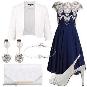 61df56ba6c33 Romantica in blu  outfit donna Romantico per cerimonia e serata ...