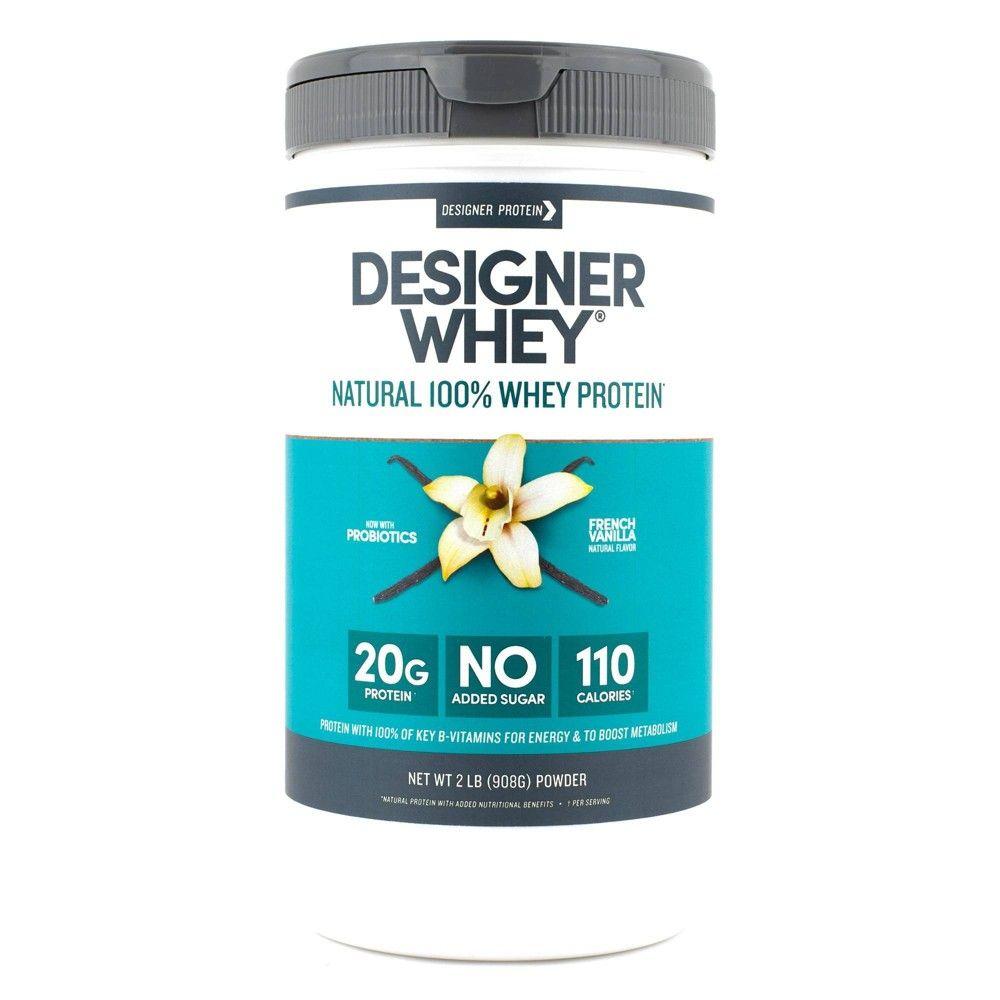 Designer Whey Protein Powder French Vanilla 32oz in