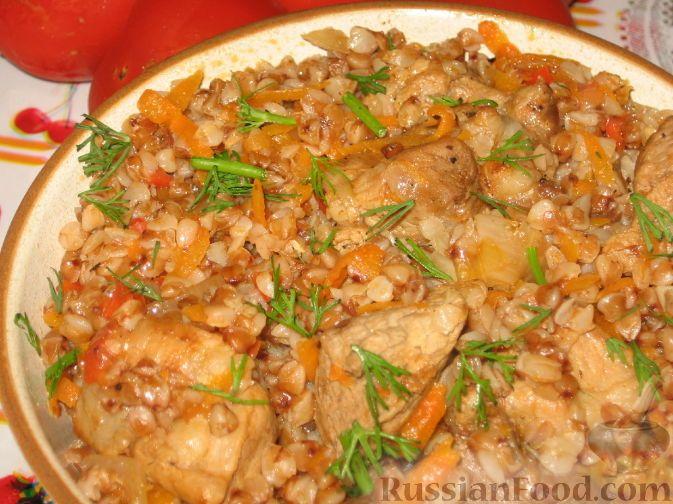 гречка по-купечески с мясом рецепт с фото