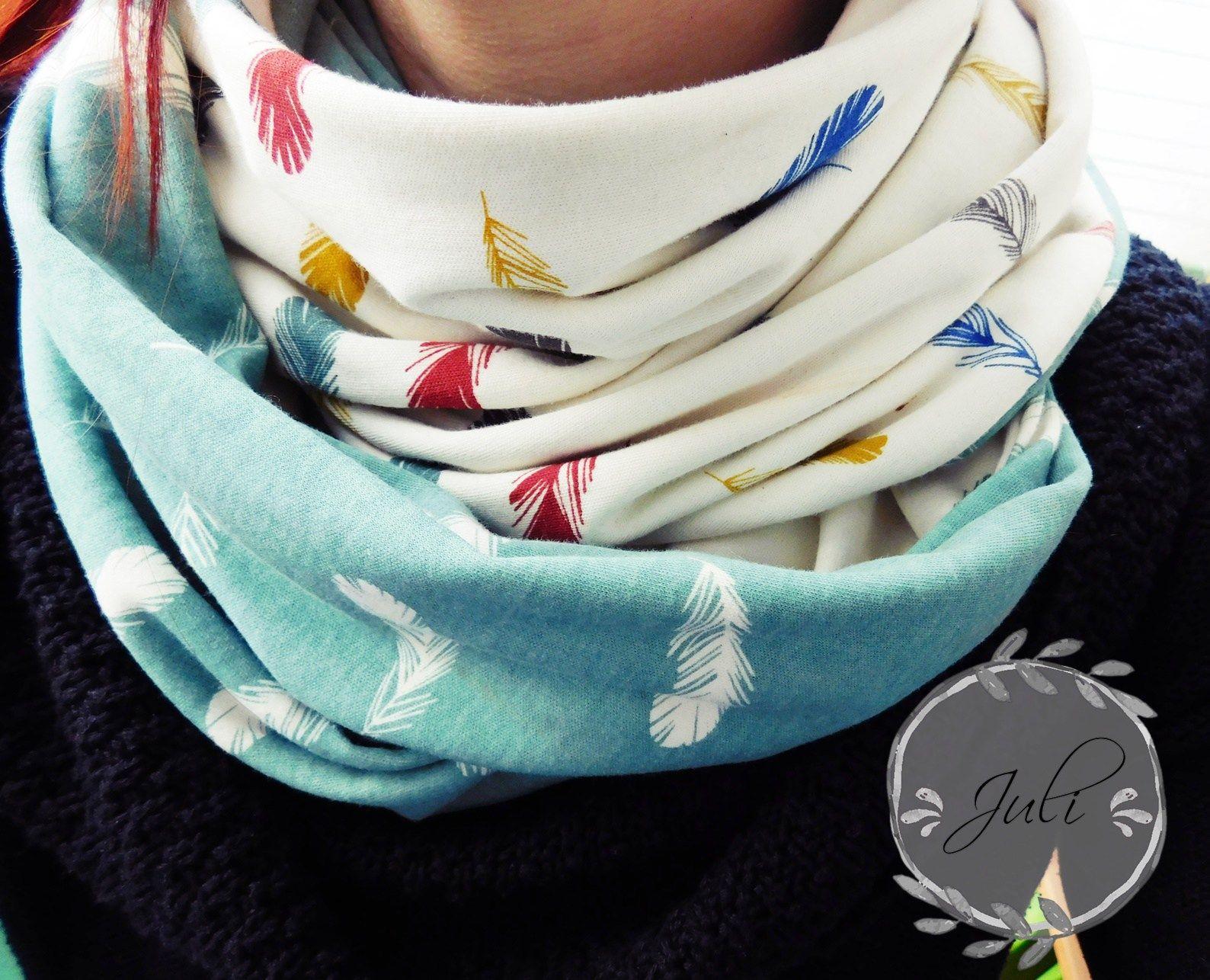 Loop Schal nähen * Birch Fabrics | Anita | Pinterest | Loop schal ...