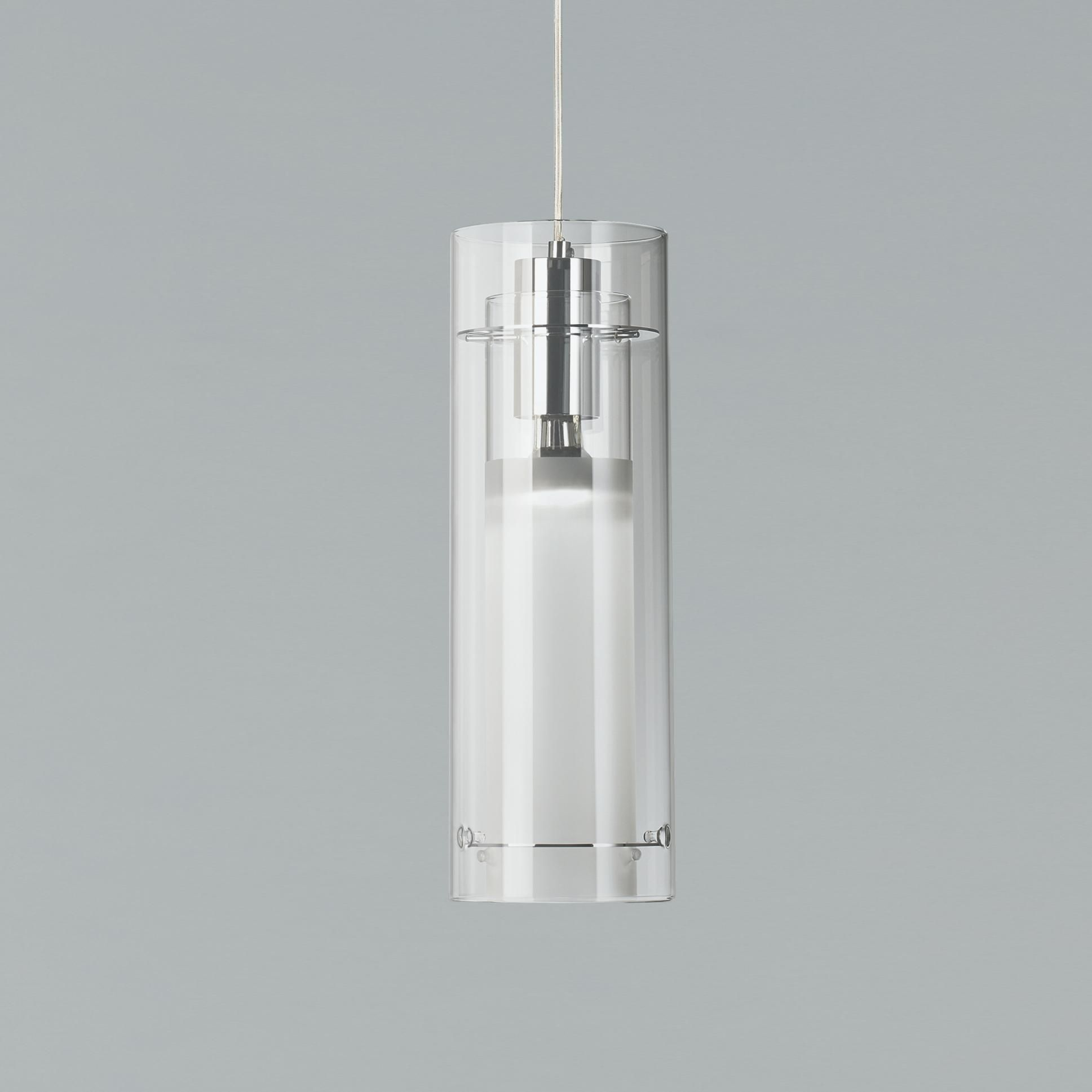 Et2 Clear Cylinder 5 1 2 W Frosted Glass Pendant Light 36544