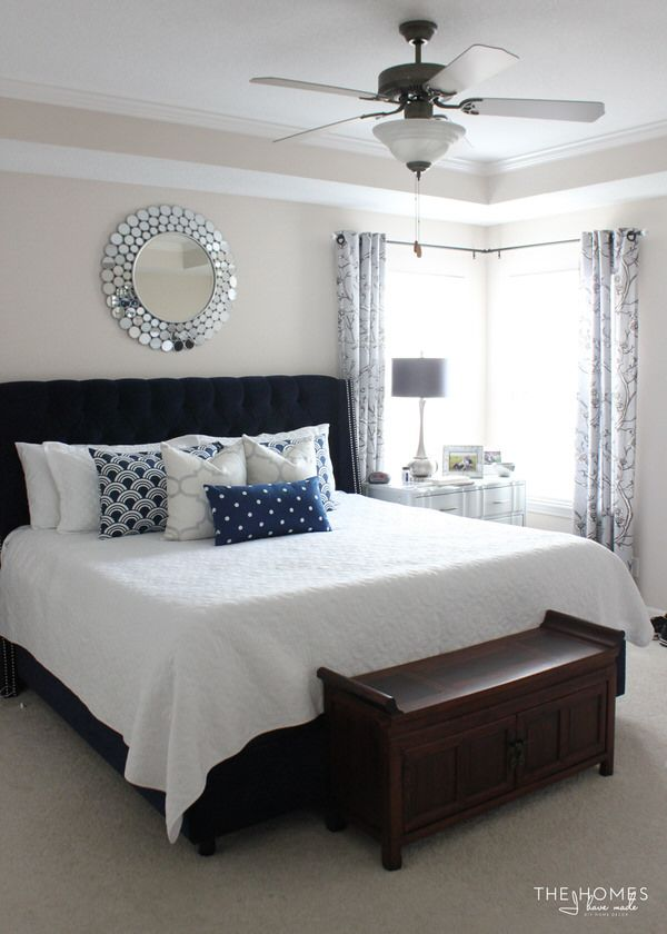 How to make a simple window cornice with scalloped edges - Grey white and silver bedroom ideas ...