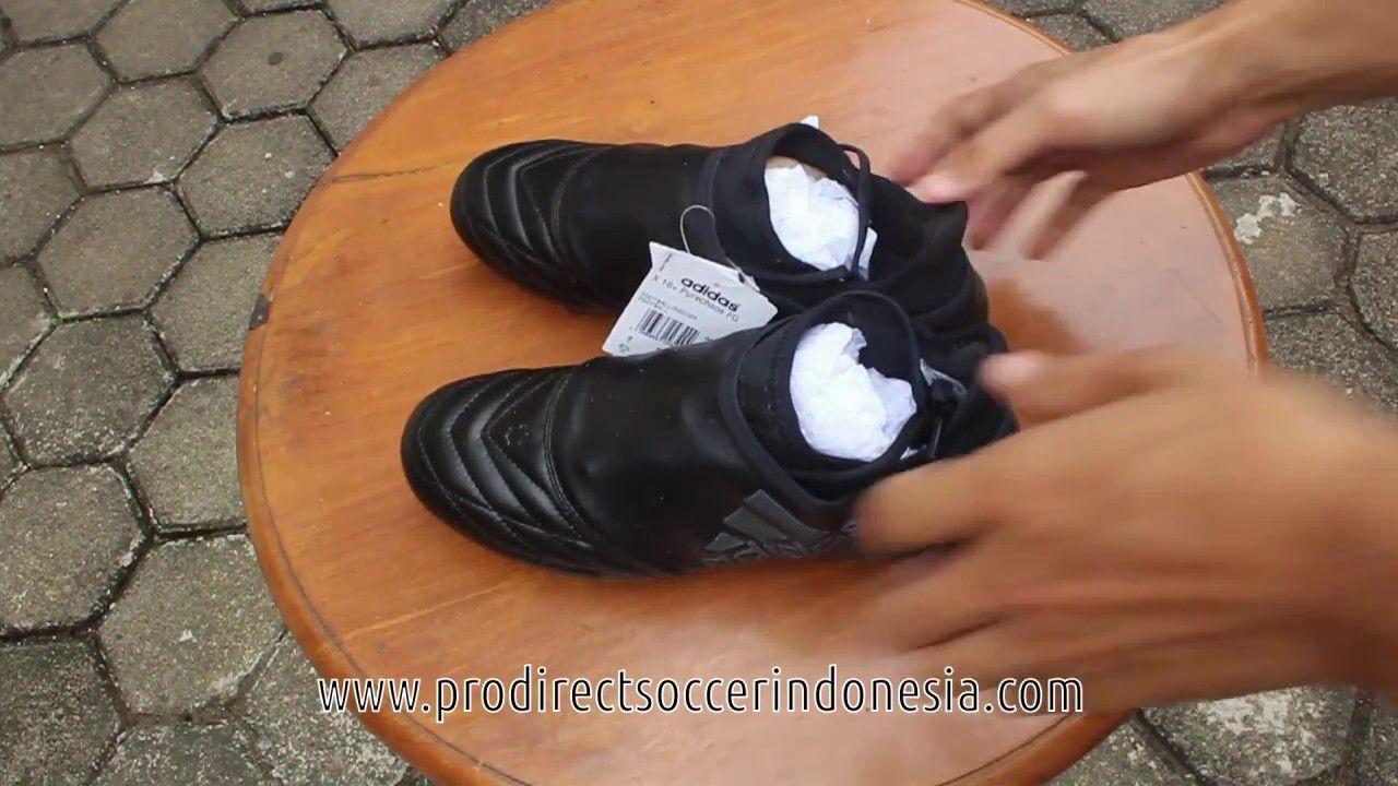Sepatu Bola Adidas X16 Purechaos Fg Leather Core Black Ba9592