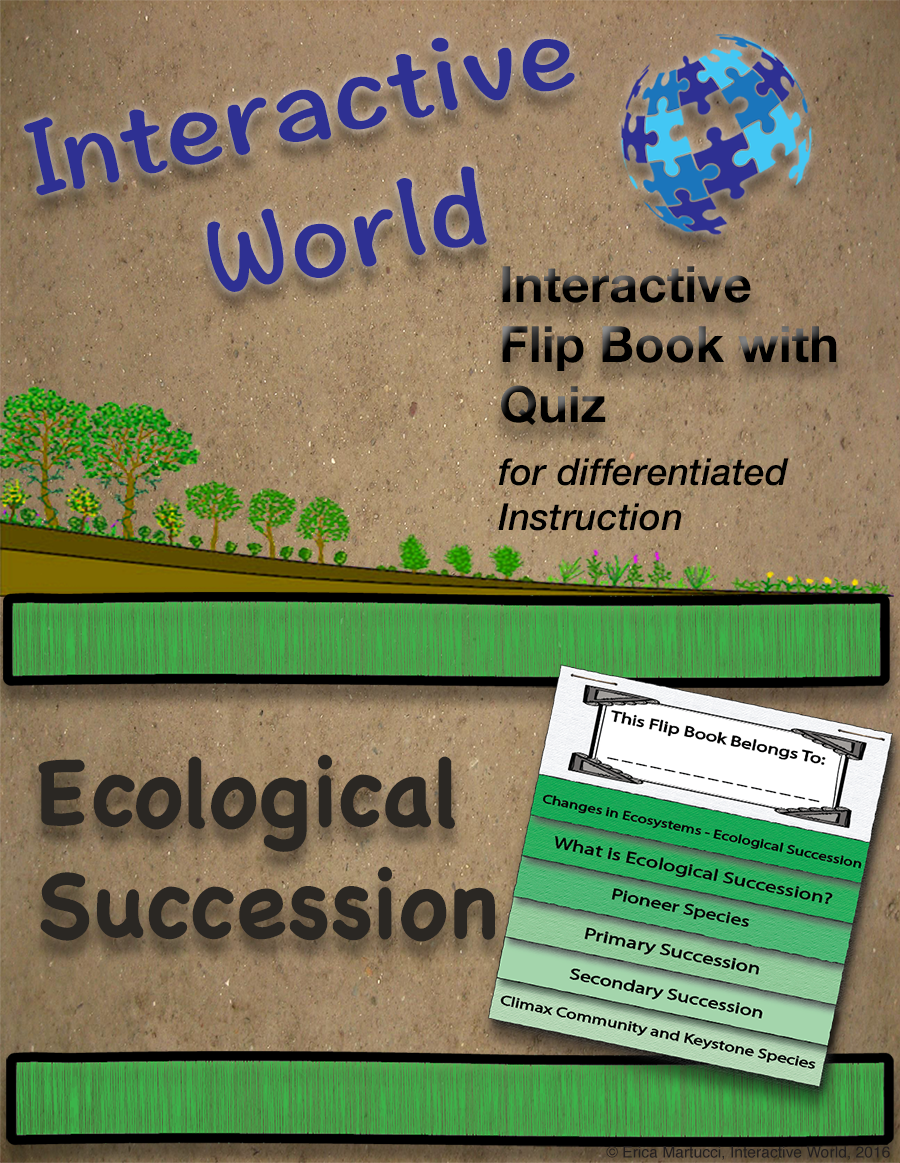 Ecological Succession Interactive Flip Book and Quiz