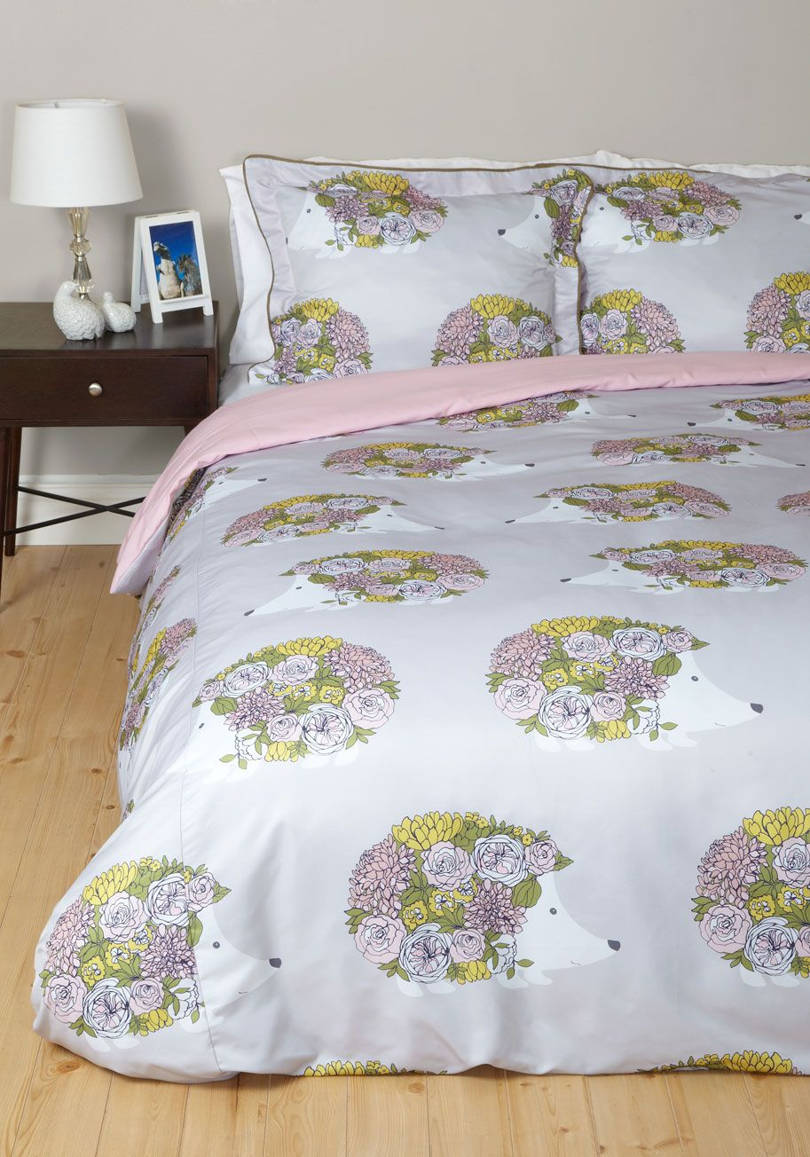 On The Hedge Of Snoring Duvet Cover In Full Queen Tonight Youre Hanging A Thin Thread Wakefulness Under Cozy Warmth This Modcloth Exclusive