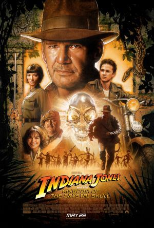 US theatrical poster for Indiana Jones and the Kingdom of the Crystal Skull