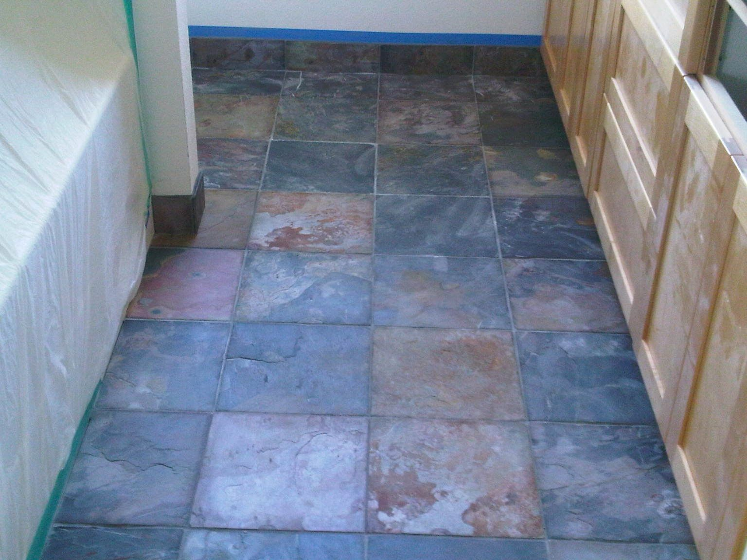 Multi Colored Slate in a 12x12 tile size by Color Tile & Carpet ...