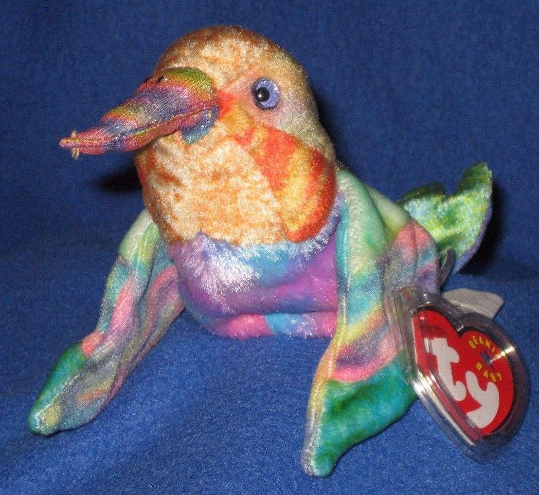 a4ac5fa6ae5 Beanbag Plush 49019  Ty Nectar The Hummingbird Beanie Baby - Mint With Mint  Tag -  BUY IT NOW ONLY   14.95 on eBay!