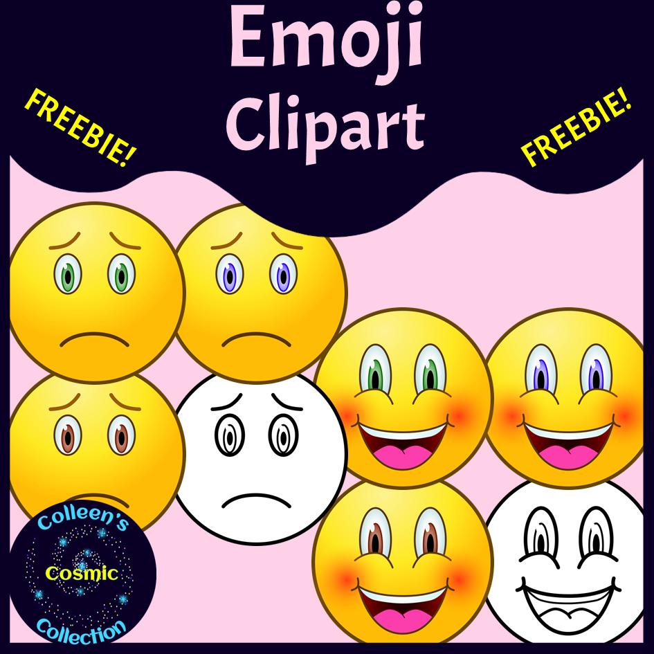 Freebie Emoji Clipart Madebyteachers In 2020 Clip Art Clip Art Freebies Emoji Clipart